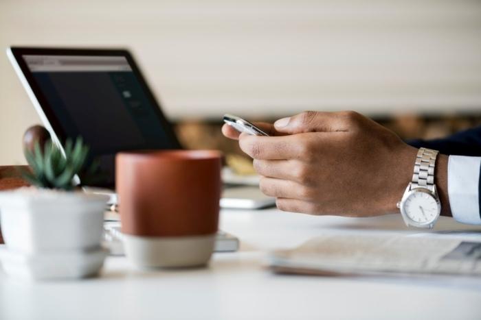 hands using smart phone